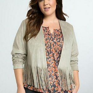 Torrid fringe blazer jacket Size 0 Boho Casual 490